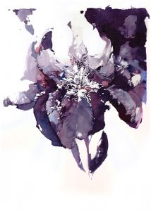 Iris flower watercolor 01