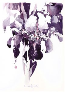 Iris flower watercolor 02