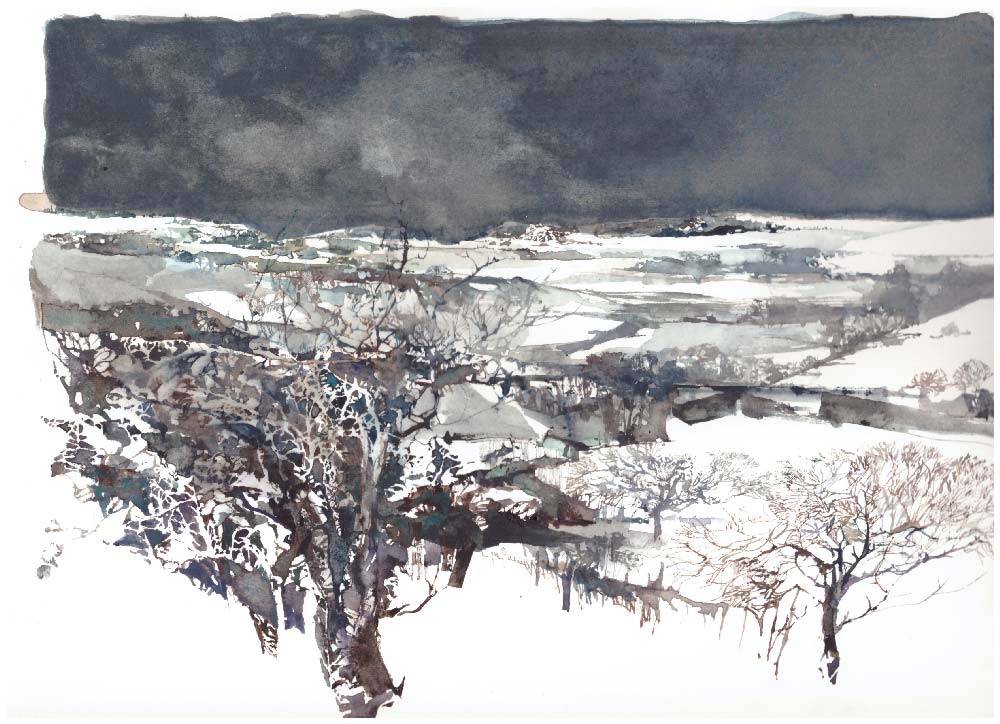 daniele gay watercolor acquerello winter tale 2