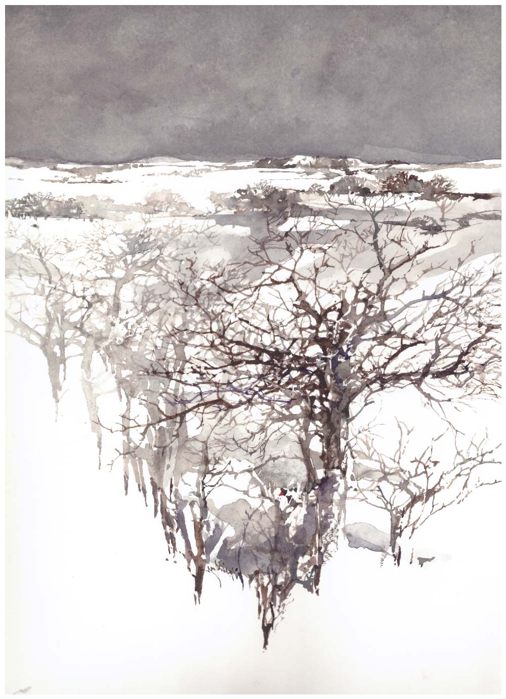 daniele gay watercolor acquerello winter tale 3