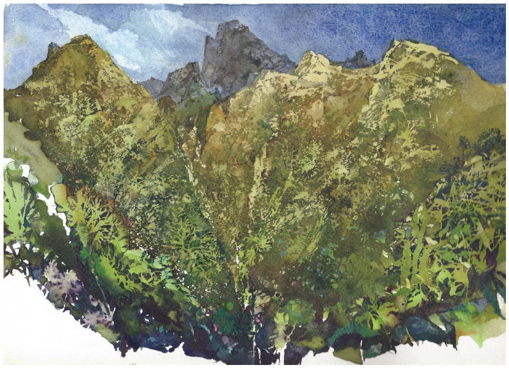 Reunion Island Watercolor